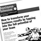 How to transform your business results by tapping into the full potential of your team...