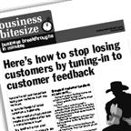 <strong>HERE</strong>'s how to stop losing customers by tuning-in to customer feedback