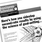 <strong>HERE</strong>'s how you sidestep second-rate results by using the science of goal-setting…
