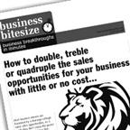 How to double, treble or quadruple the sales opportunities for your business with little or no cost...